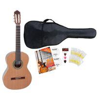 Antonio Calida - Gc201S 4/4 guitare de concert set de débutant, y compris un set d'accessoires