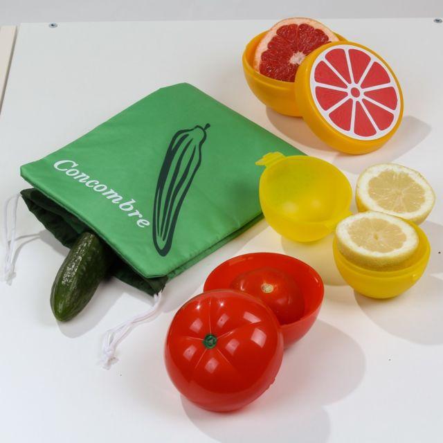 Calicosy Boîtes de conservation fruits et légumes - Lot 4