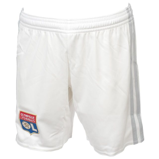 a00f9ab24dbac Adidas - Short de football Ol short jr 17 18 home Blanc 74757 - pas ...