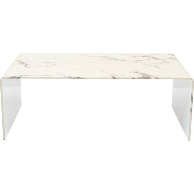 Karedesign Table basse Moonraker effet marbre 110x60cm Kare Design