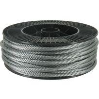 Levac - Câble acier galvanisé Ame textile Diam.5mm Résistance à la rupture 1500kg