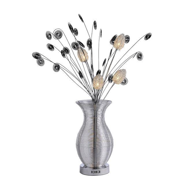 Alinea Bosca Lampe Vase Et Fleurs Lumineuses Noir Pas Cher Achat
