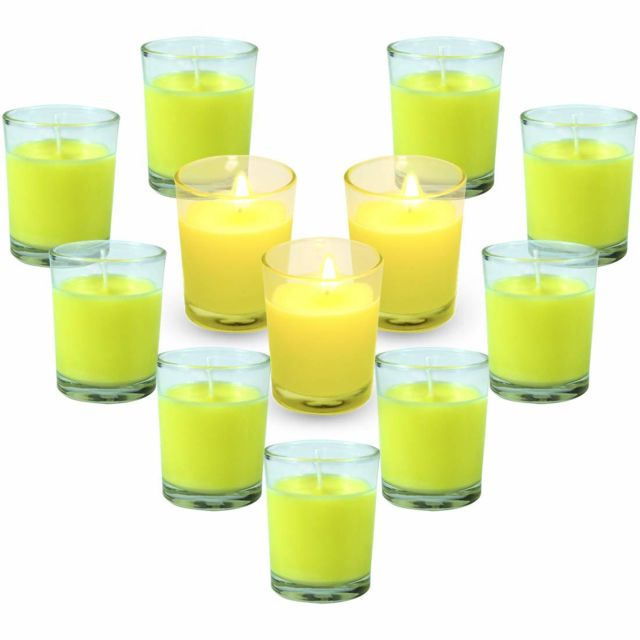 Bougies Citronnelles Anti-Moustique Cire de Soja Naturel Bougies Parfumées d'Été pour L'Intérieur & l'Extérieur Jardin T