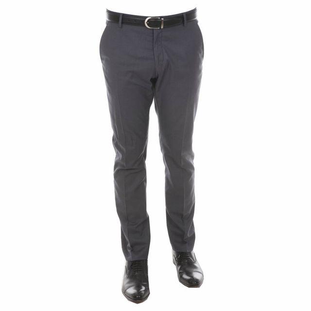 Selected - Pantalon de costume cintré gris foncé