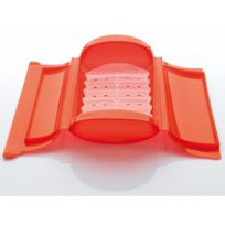 LEKUE - papillote silicone coffret vapeur 24x12.4cm rouge - 3404600r10u004