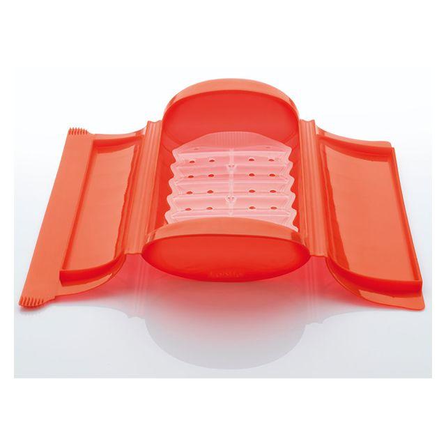LEKUE papillote silicone coffret vapeur 24x12.4cm rouge - 3404600r10u004