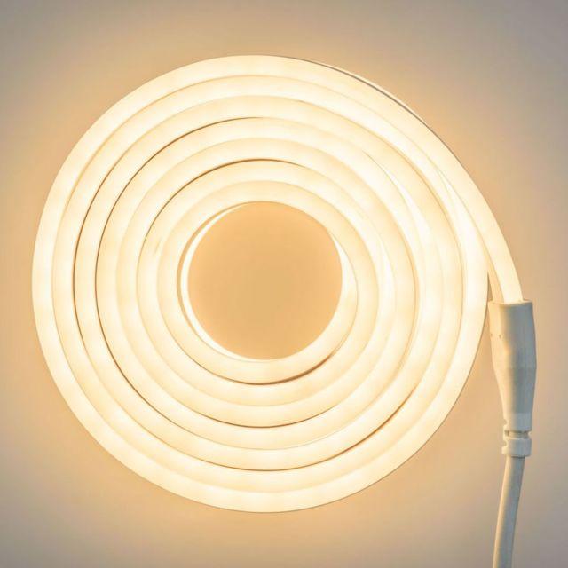 Lotti Tube Lumineux Neon 8m Blanc Chaud
