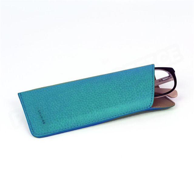 Volumica - Etui lunettes souple cuir Bleu-turquoise Beaubourg - pas cher  Achat   Vente Lunettes Tendance - RueDuCommerce 62b8675b9607