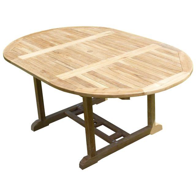 Teck'LINE Table Sawah Ronde/Ovale120-180x120x75 Teck Premium