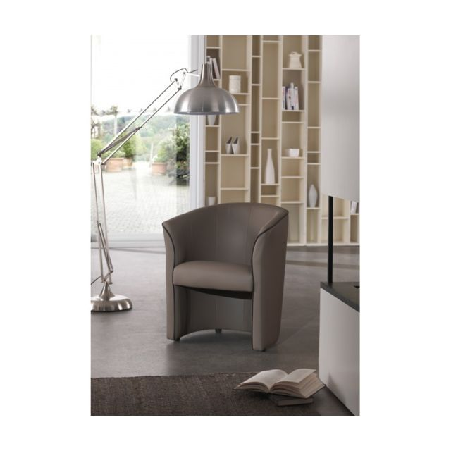 Rocambolesk Fauteuil cabriolet Pvc taupe choco