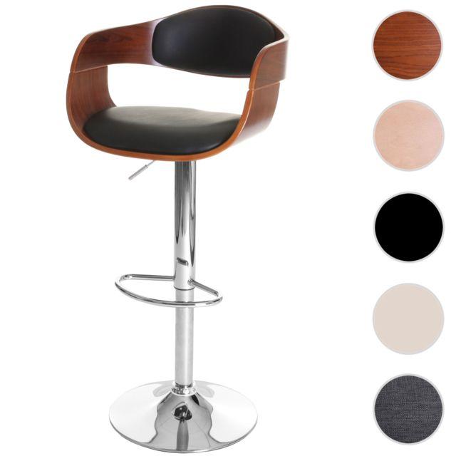 Mendler Tabouret De Bar Carlow Chaise De Bar Bois Courbe Design