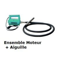 Imer - Vibreur à béton moteur+aiguille, Ø38mm, flexible 3m - Evpi38/3