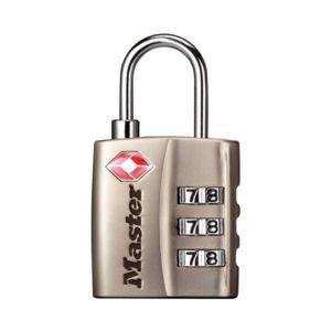 master lock cadenas 3 chiffres nickel 30 mm certifi tsa pas cher achat vente. Black Bedroom Furniture Sets. Home Design Ideas