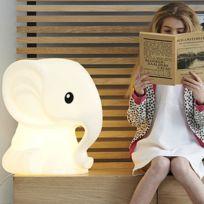 Mr Maria - Anana - Lampe à poser Eléphant Blanc H51cm - Luminaire enfants designé par