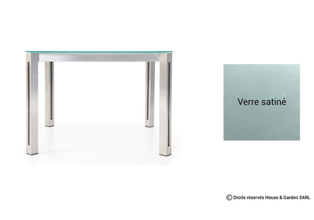 Todus - Table De Jardin Carree Design - Alcedo Aria 100 cm Verre ...