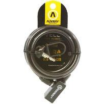 Auvray - Antivol Spiral Noir Pour Trotinette + 1 support + 2 clés