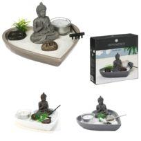 Jardin Zen Miniature Forme Coeur Decoration Interieur Relaxation Bouddha 695