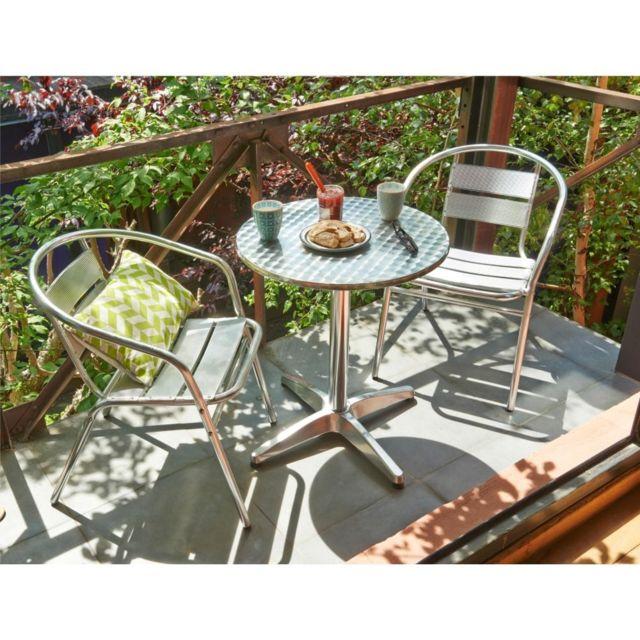 carrefour balcon fauteuil empilable de jardin en aluminium pas cher achat vente fauteuil. Black Bedroom Furniture Sets. Home Design Ideas