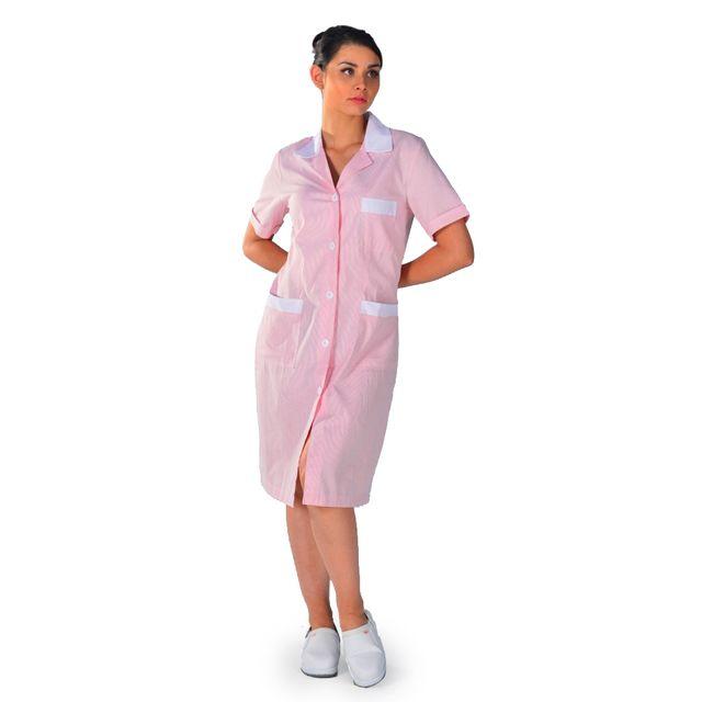 renommée mondiale qualité supérieure vente en magasin Blouse de travail femme de ménage rose