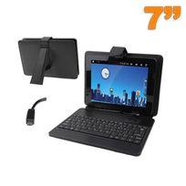 Yonis - Housse clavier tablette tactile 7 pouces support Micro Mini Usb noir