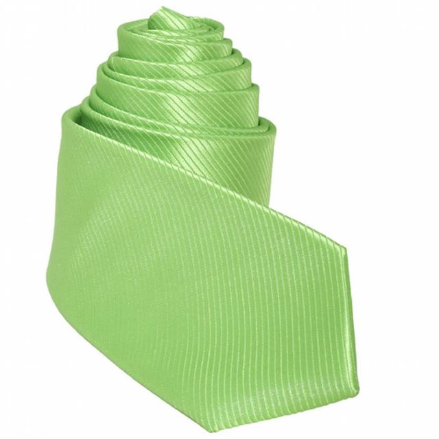 Touche Finale - Cravate mi-slim vert Pomme Granny
