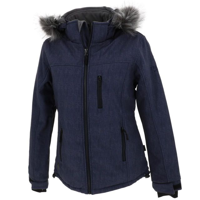 Eldera Sportswear Softshell blouson Vanoise printblu softshel Bleu 28082