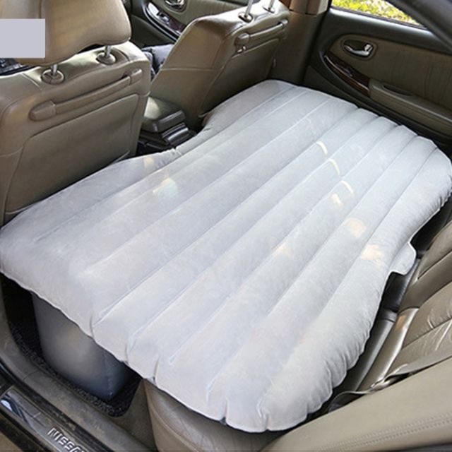 Wewoo Voiture Voyage Gonflable Matelas Air Gris Lit Camping