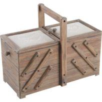 AUBRY GASPARD - Boîte à couture en bois Fil et aiguille