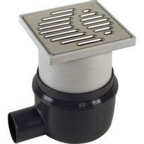 Aco Passavant - Bonde de douche à l'italienne 150 x 150 mm ajustable sortie horizontale