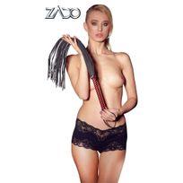 Zado Collection - Fouet Cuir Soft Rouge - Noir