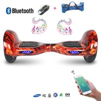 COOL AND FUN - COOL&FUN Hoverboard Batterie Samsung, Bluetooth,Scooter électrique Auto-équilibrage,gyropode connecté 10 pouces Flame design