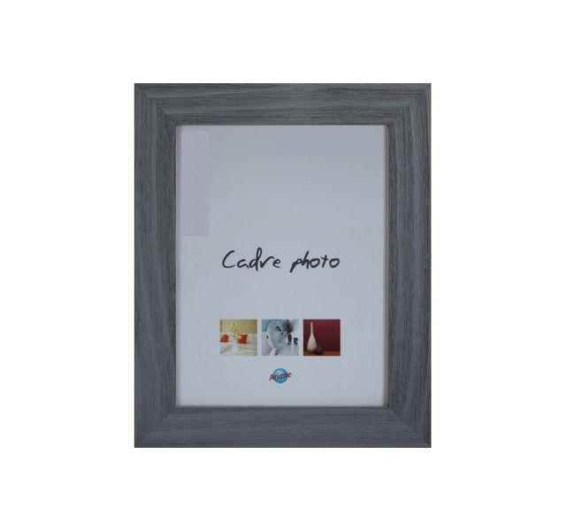 Ariane Cadre photo bois gratté gris - 30x40cm