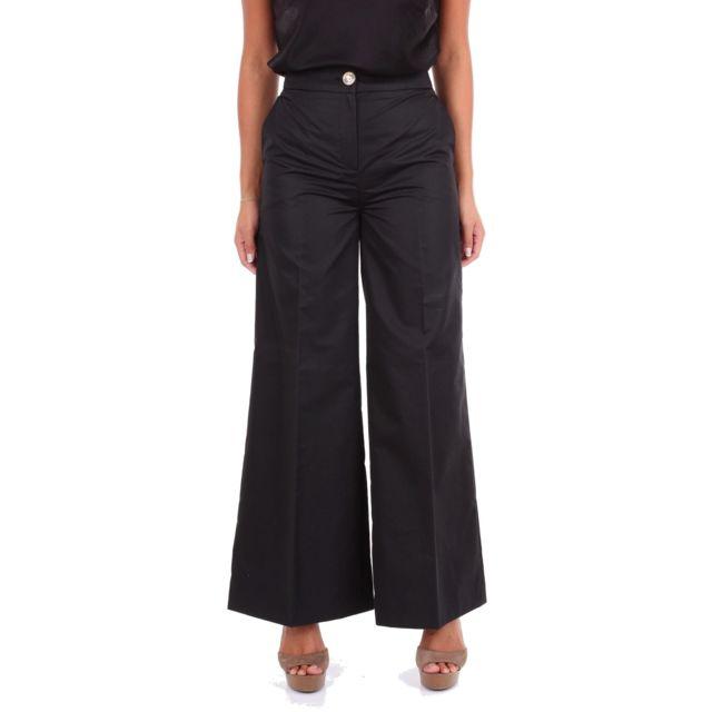 MOSCHINO Boutique Femme A030808230555 Noir Coton Pantalon