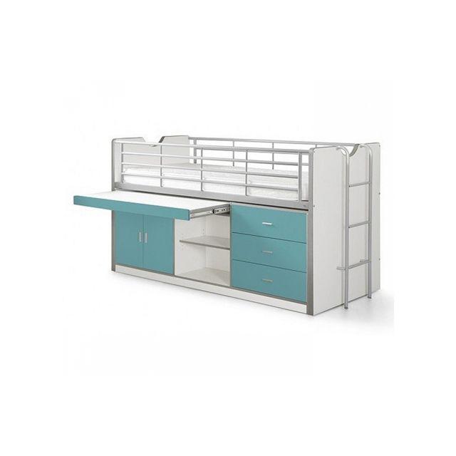 Vipack Lit Combin Bureau Bonny Turquoise