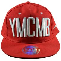 Ymcmb - Casquette Snapback - Taille Réglable - Rouge Blanc