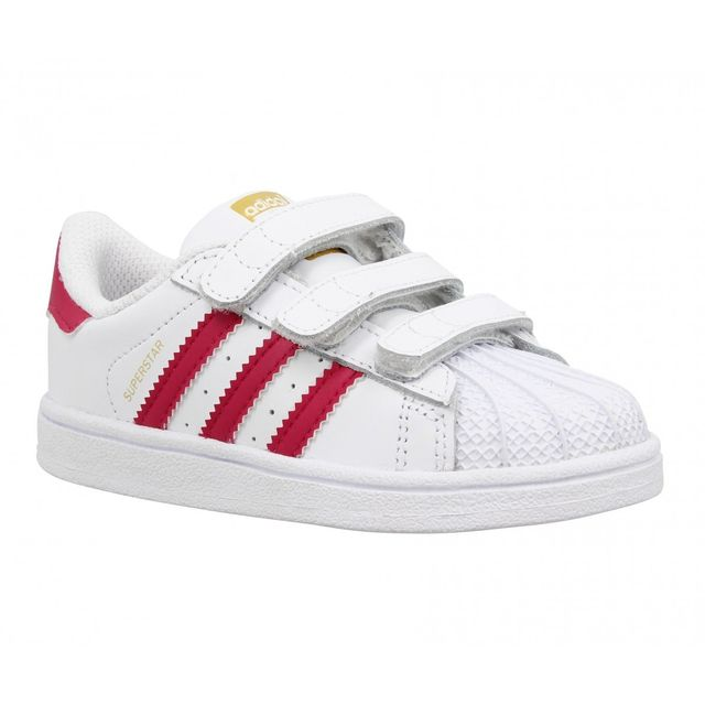 bdb7ccc94dad2 Adidas - Superstar Foundation cuir Enfant-25-Blanc + Rose - pas cher ...