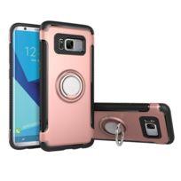 Wewoo - Coque renforcée rose pour Samsung Galaxy S8 Téléphone Ring Armure  Tpu + Pc 360 040f269c5b0