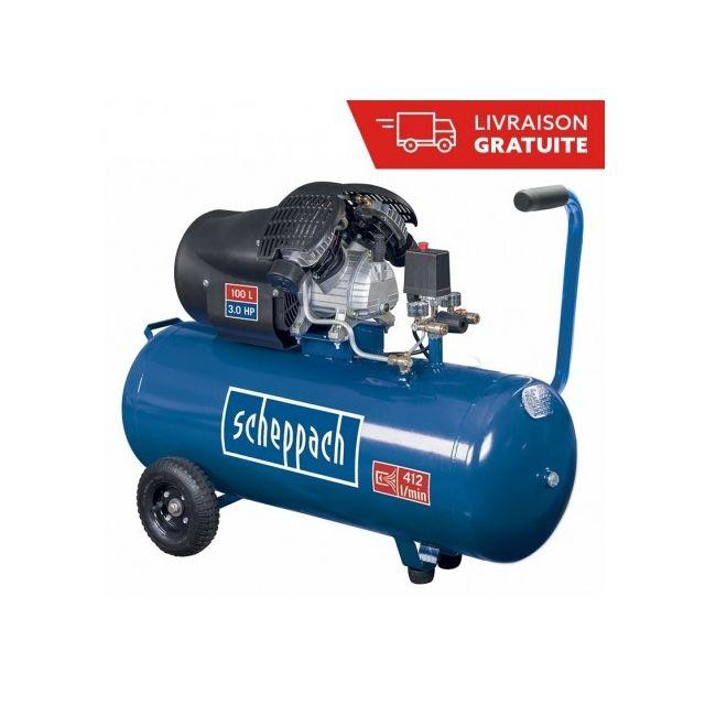 aef6c8771c1648 Scheppach - Compresseur 100l à deux cylindres 2200W Hc100DC - pas cher  Achat   Vente Accessoires mini-outillage - RueDuCommerce