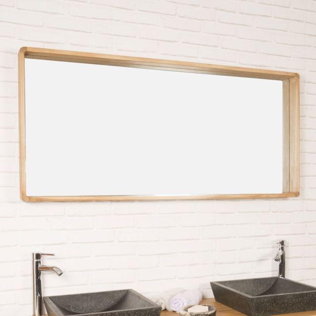 Wanda Collection - Miroir salle de bain en teck Samba 140 x 65 cm ...