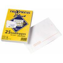 La Couronne - enveloppe blanche c6 80g bandes detachables - paquet de 25