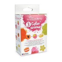 Scrapcooking - Trio Color Arôme 3 X 10 Grammes - Framboise / Abricot / Pistache