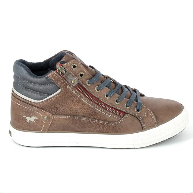 Sneakers Vente Mocassins Cher Pas Mustang 4129502 Achat Marron dW7qPwY6