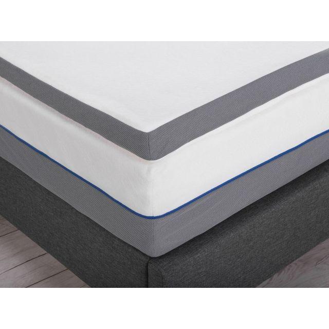 BELIANI Sur-matelas à mémoire de forme 90 x 200 cm COMFY - blanc