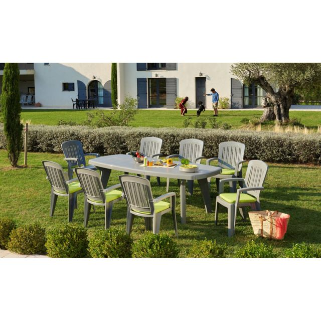 CARREFOUR - SORRENTO - Table rectangulaire extensible - Gris 170cm x ...