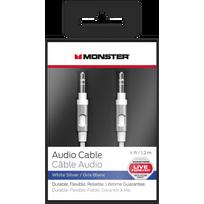 Monster - Câble audio jack mini 3.5 mm - 1.2m - Blanc