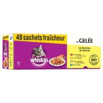 Whiskas - Sachets Fraîcheur en Gelée 1+ Les Recettes du Marché pour Chat - 48x100g