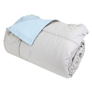 linnea dessus de lit 240x260 cm microfibre 100 polyester 330 g m2 frisbee bicolore gris perle. Black Bedroom Furniture Sets. Home Design Ideas