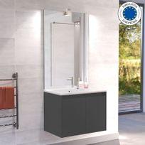 Creazur - Meuble salle de bain simple vasque Proline 70 - Gris anthracite