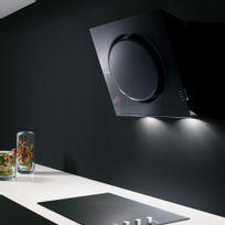 Elica - Hotte cuisine murale noire Mini Om 55 cm