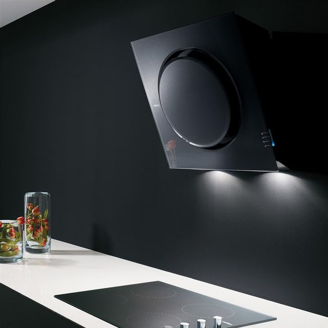 Elica Hotte cuisine murale noire Mini Om 55 cm